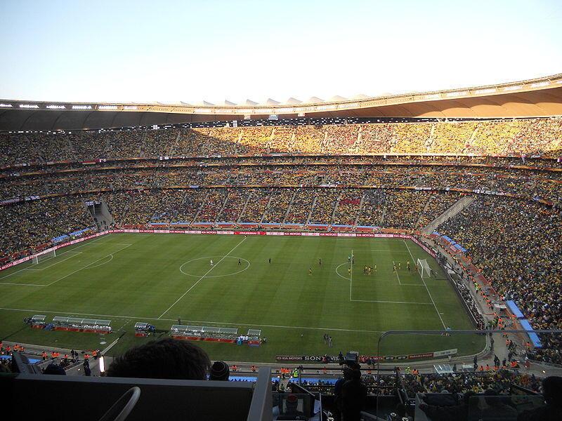 Le stade FNB de Soweto, à Johannesburg, a accueilli la Coupe du monde de football en 2010.