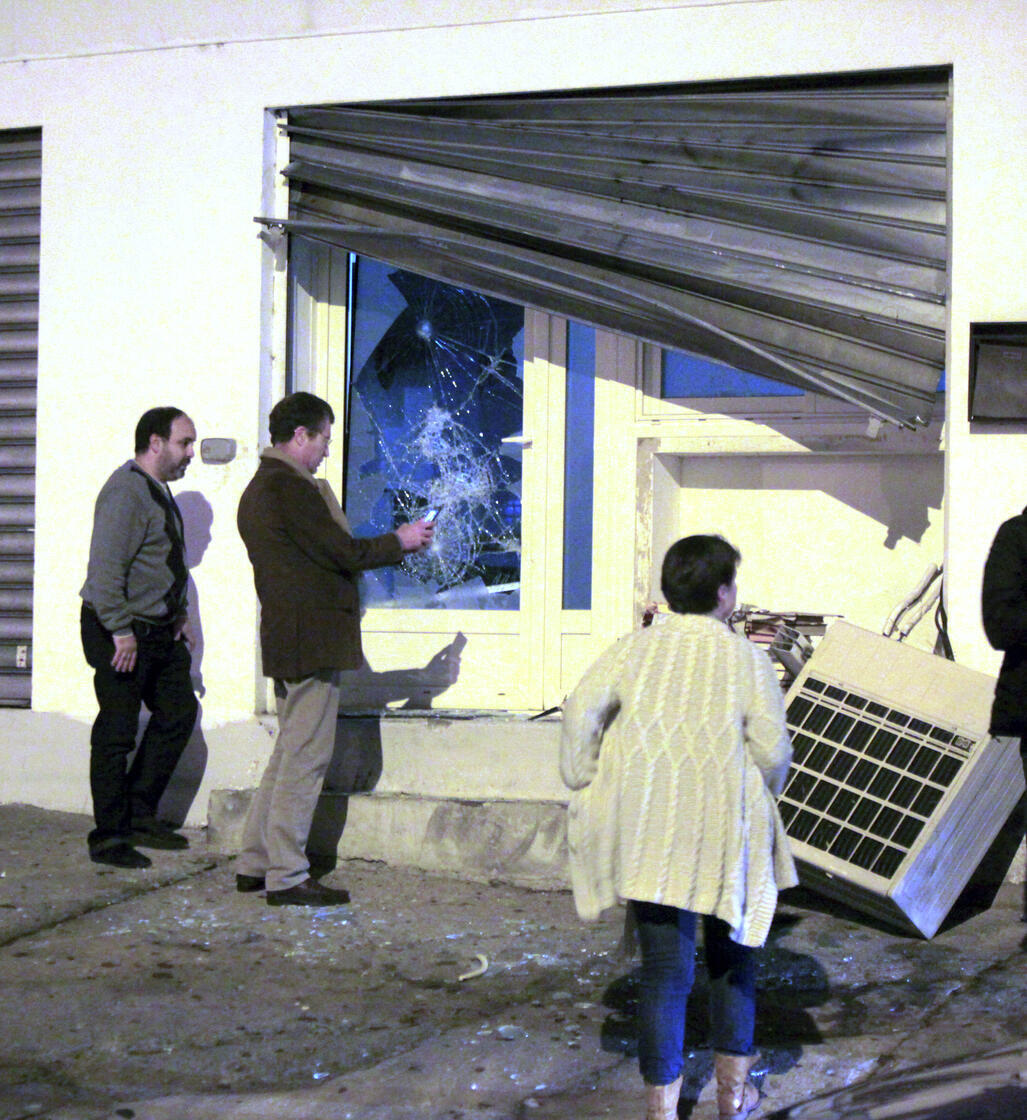 The prayer hall that was attacked in Ajaccio, Corsica