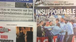 Primeiras páginas dos jornais franceses de 03/11/2017