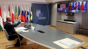 """Cimeira """"online"""" UE-China. 22 de Junho de 2020."""