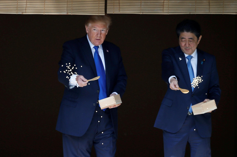 特朗普與安倍在東京 2017年11月6日
