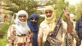 Des combattants touaregs du MNLA dans le nord du Mali.