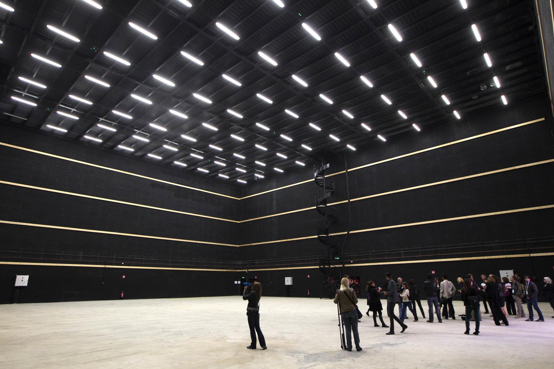 One of nine cinema studios at the Cité du Cinema, created by Luc Besson, Saint-Denis, Paris.