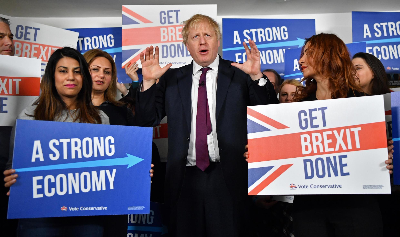 Thủ tướng Anh Boris Johnson, ngày 08/12/2019.