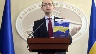 Арсений Яценюк на пресс-конференции в Кабинете министров Украины 07/03/2014