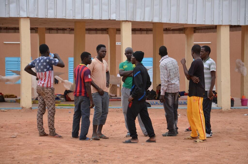 Des migrants dans un camp de transit à Agadez, au Niger (image d'illustration)