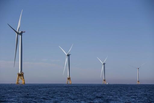Turbinas eólicas en New Shoreman, Estados Unidos, el 21 de septiembre de 2016