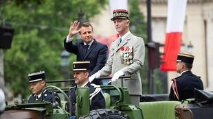 Emmanuel Macron, Presidente francês. 14 de Julho de 2019. Paris.