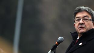 Jean-Luc Mélenchon, candidat de «La France insoumise» à la présidentielle 2017, lors d'un meeting à Tourcoing, dans le nord de la France, le 8 janvier 2017.