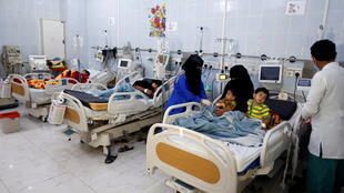 Photo d'une chambre à l'hôpital al-Sabeen à Sanaa, capitale du Yémen.