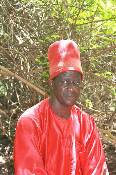 Sibulumbaï Diédhiou, Roi d'Oussouye, (juillet 2008).
