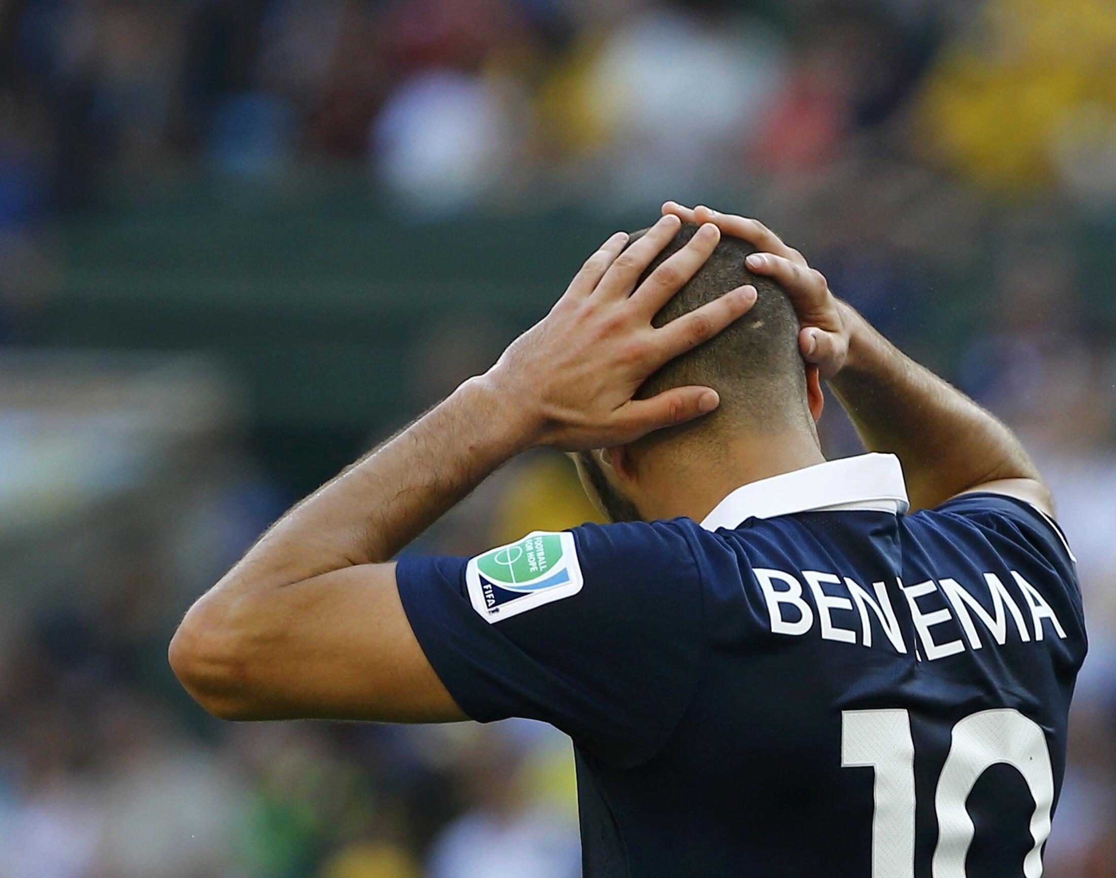 Benzema sau thất bại ở trận tứ kết ngày 04/07/2014 - Reuters
