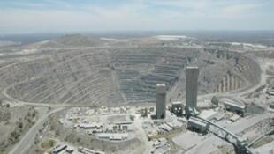 Une vue globale de la mine de cuivre de Palabora en Afrique du Sud.