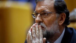Mariano Rajoy, el 27 de octubre de 2017.