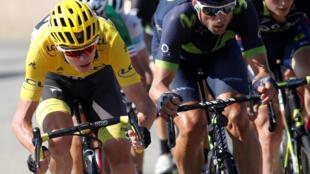 Le Britannique Chris Froome lors de la 16e étape du Tour de France le 18 juillet 2017.