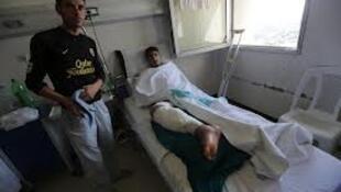 Mmmoja wa askari majeruhi akiwa katika hospitali ya Tishrin mjini Damascus.