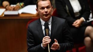 Le ministre délégué aux Comptes publics, Olivier Dussopt, à l'Assemblée nationale, le 8 juillet 2020.