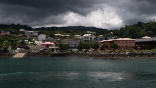 Mamoudzou, chef-lieu du 101e département de France, Mayotte.