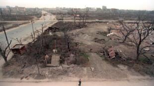 Центр Грозного 10 декабря 1996 года.