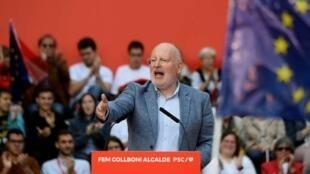 荷蘭工黨黨魁、歐盟委員會副主席蒂默曼斯(Frans Timmermans)在巴塞羅那一次演講中           2019年5月23日