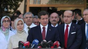 Le Premier ministre turc Ahmet Davutoglu, le 10 octobre 2014 à Ankara.