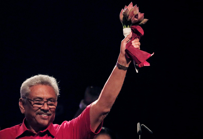 拉贾帕克萨宣布赢得总统大选的胜利