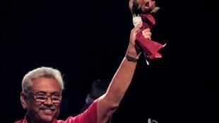 拉賈帕克薩宣布贏得總統大選的勝利