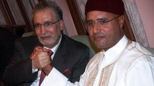 Seif al-Islam with alleged Lockerbie bomber Abdelbaset al-Megrahi in 2009