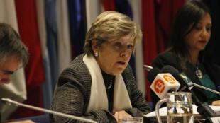 La Secretaria Ejecutiva de la CEPAL, Alicia Bárcena, encabezó la presentación del Estudio Económico de América Latina .
