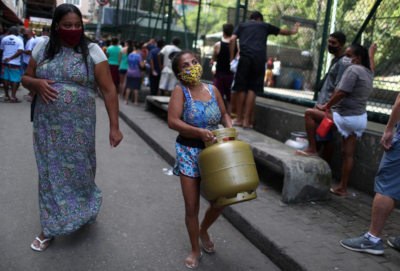 En la favela Rocinha en Rio de Janeiro, durante la pandemia de Covid-19, el 22 de mayo de 2020.