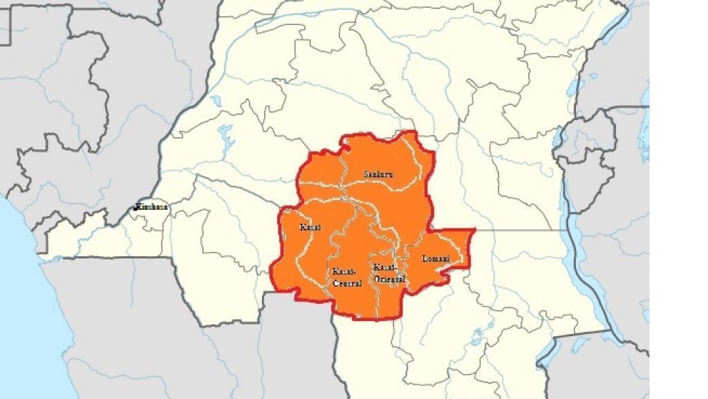 Les cinq provinces touchées par les violences : Kasaï, Kasaï-Oriental, Kasaï-Central, Sankuru et Lomani.