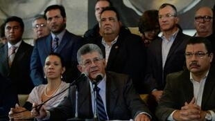 Spika wa Bunge la Venezuela, Henry Ramos Allup mjini Caracas Machi 2, 2016.
