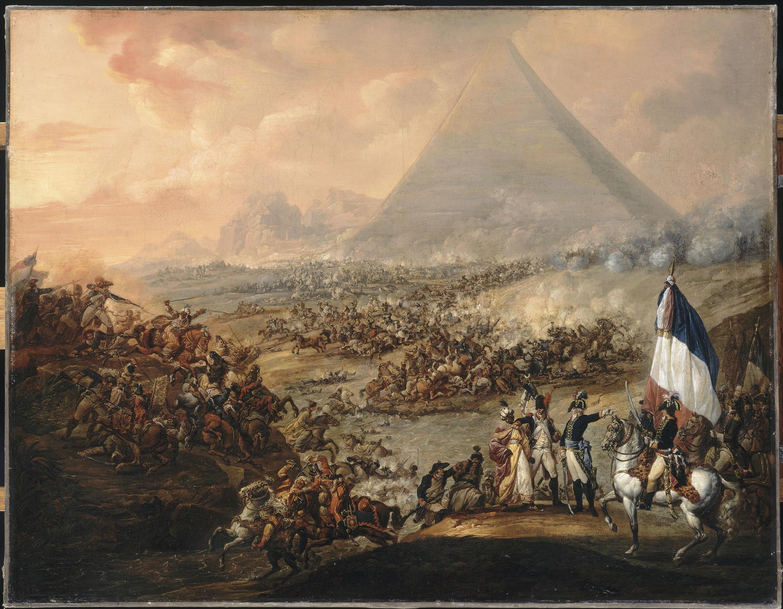 Битва у пирамид, Франсуа Ватто (1758-1823).