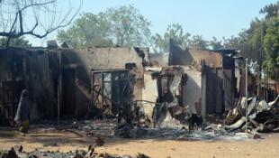 Vifusi vya nyumba katika mji wa Bama, kaskazini-mashariki mwa Nigeria baada ya mashambulizi yaliyotekelezwa na Boko Haram, Februari mwaka 2014.