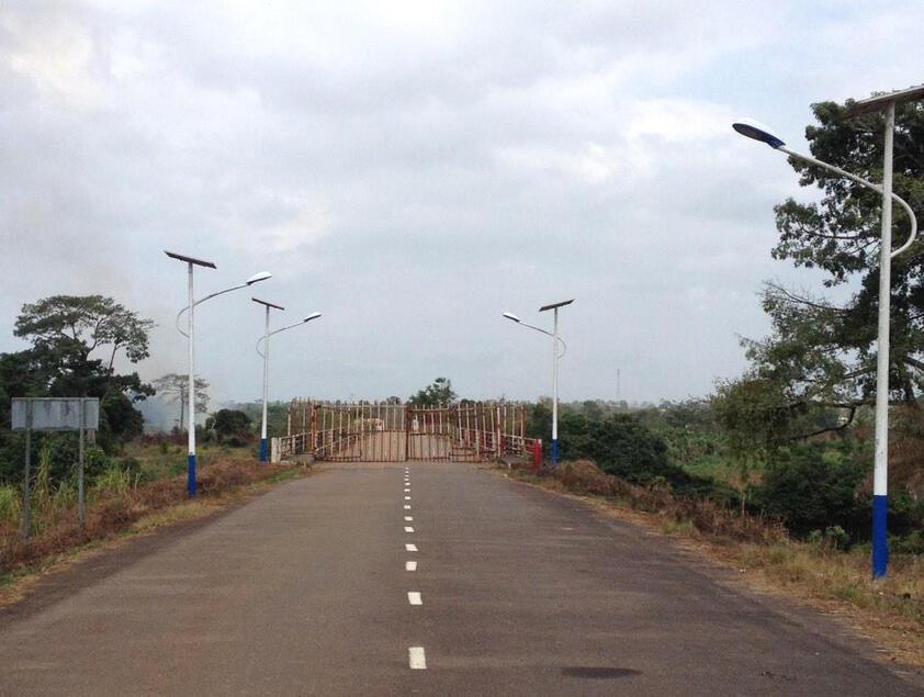 La frontière entre le Liberia et la Sierra Leone est fermée depuis sept mois en raison de l'épidémie d'Ebola.