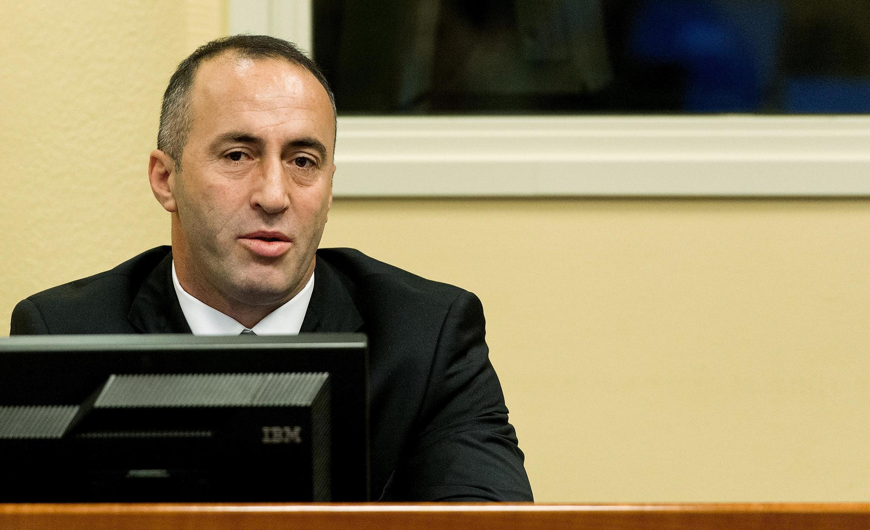 L'ex Premier ministre kosovar Ramush  Haradinaj, à La Haye, le 29 novembre 2012.