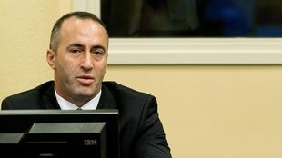 Ramush  Haradinaj in The Hague in 2012