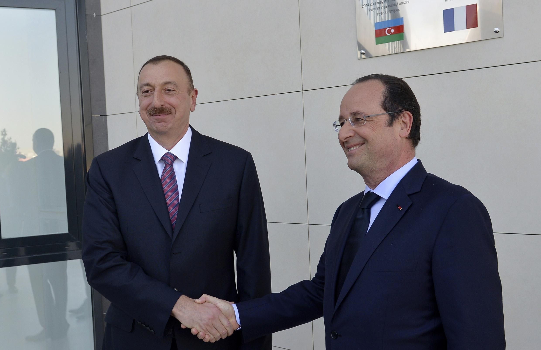 Олланд и Алиев в Баку, 11 мая 2015 год