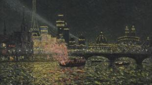 Maxime Maufra, Féérie nocturne - Exposition universelle 1900, 1900, huile sur toile, 65,5 x 81,3 cm, Reims, Musée des Beaux-Arts, legs Henry Vasnier