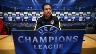 Diego Simeone, l'entraîneur de l'Atletico Madrid.