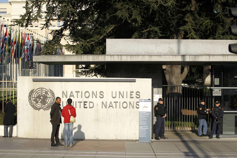 Nhân viên an ninh trước trụ sở Liên Hiệp Quốc tại Genève, le 10/12/2015.