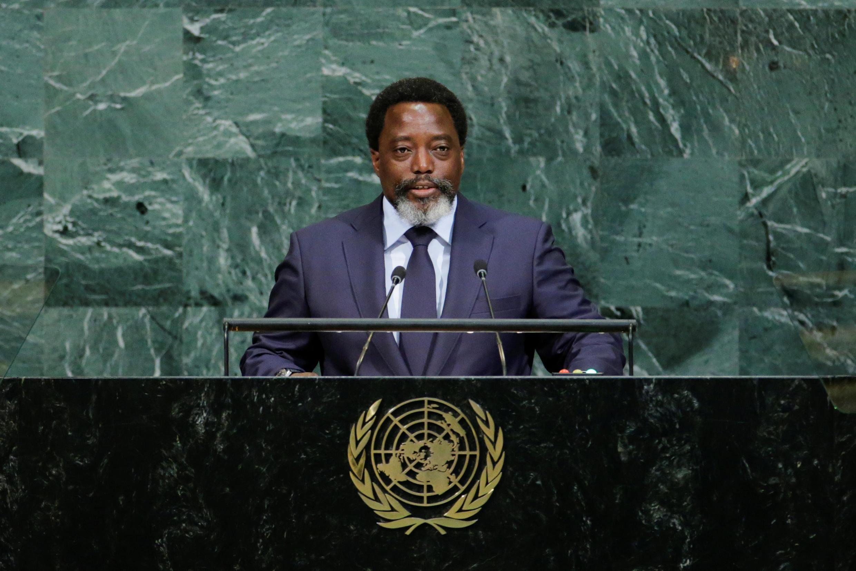 Le président de la République démocratique du Congo (RDC) Joseph Kabila lors de son allocution devant l'Assemblée générale annuelle des Nations unies, le 23 septembre 2017, à New York.
