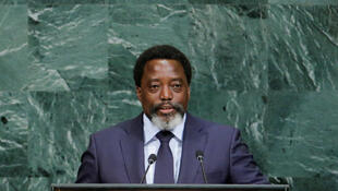 Le président de la République démocratique du Congo Joseph Kabila lors de son allocution devant l'Assemblée générale annuelle des Nations unies, le 23 septembre 2017, à New York.