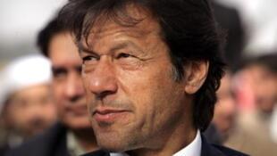 Imran Khan, l'ancien joueur de cricket devenu politicien.
