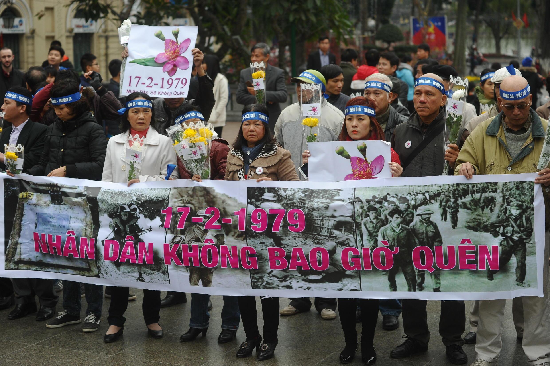 Tưởng niệm sự kiện Trung Quốc tấn công biên giới  phía bắc Việt Nam năm 1979, ngày 17/02/2016, tại Hà Nội.
