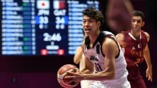 Takuma Sato, một trong bốn cầu thủ bóng rổ bị đuổi về nước, trong trận gặp Qatar tại Asiad 2018, ngày 16/08/2018
