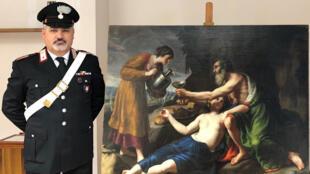 La pintura del pintor francés del siglo XVII, Nicolas Poussin, robada en Francia en 1944 por los nazis, fue hallada en Italia y devuelta a sus dueños