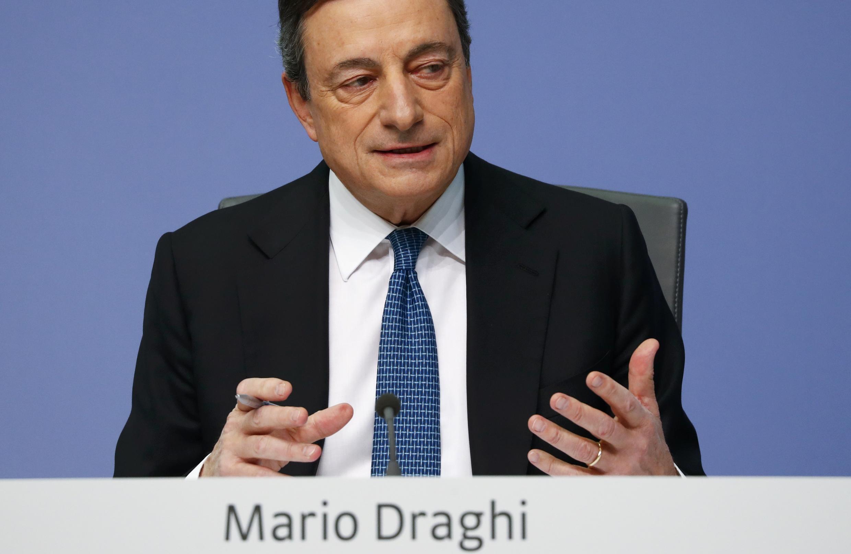 Mario Draghi, presidente do BCE esta quinta-feira 10 de março de 2016
