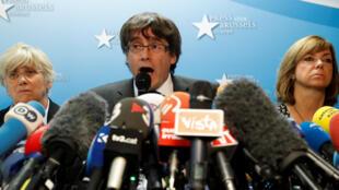 Carles Puigdemont ya kira taron manema labarai domin bayyana matsayarsa a Brussels