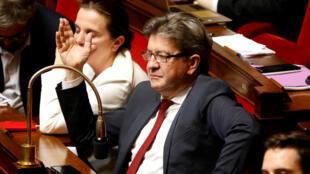 Jean-Luc Mélenchon à l'Assemblée nationale, le 24 octobre 2017.